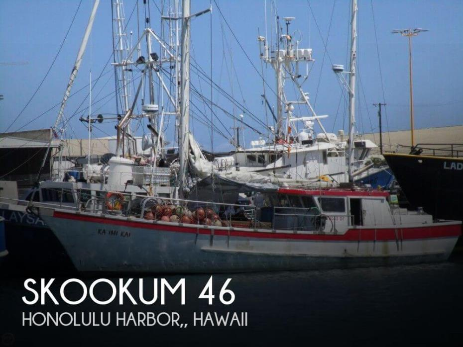 1975 Skookum Commercial Sail Fishing Boat