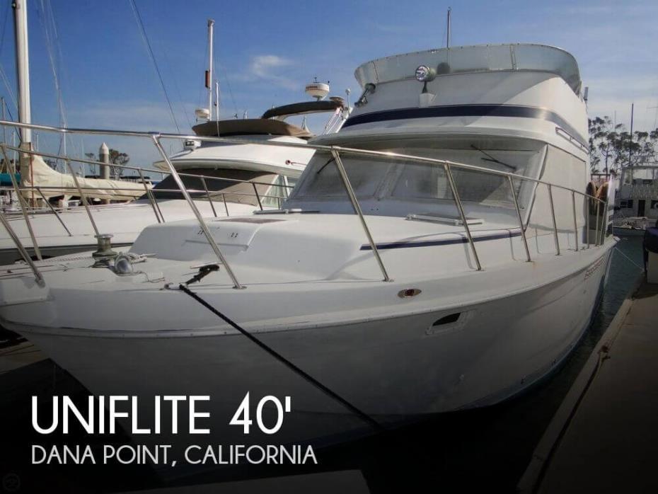 1984 Uniflite 41 Yacht Fisherman