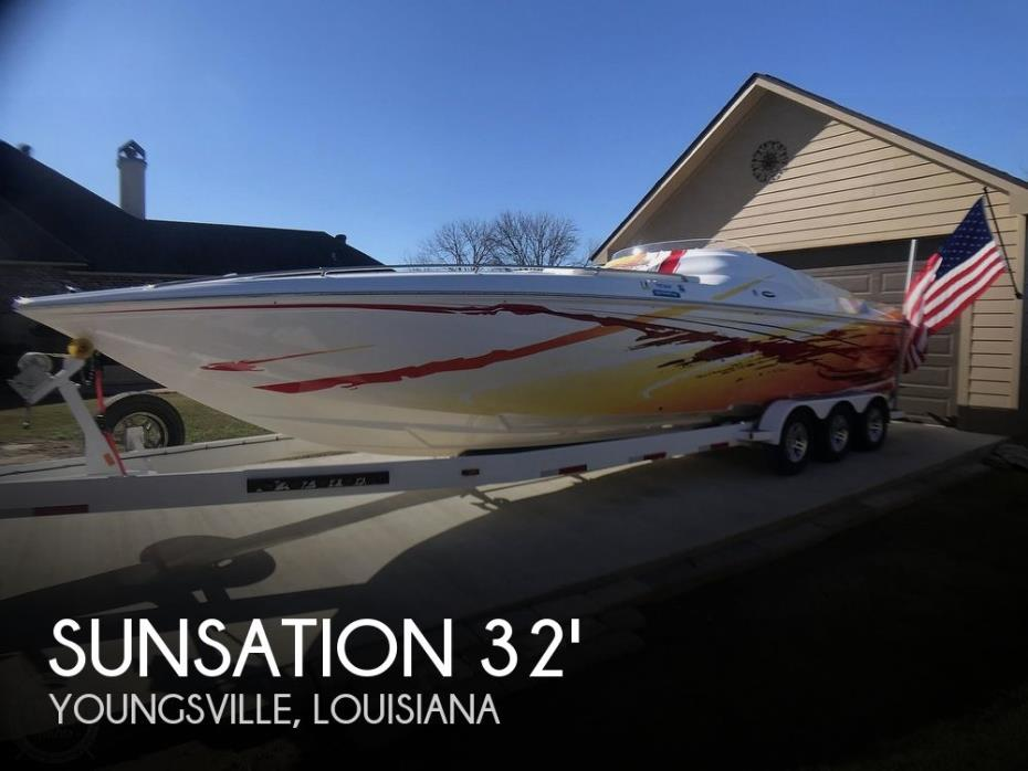 2008 Sunsation Dominator 32 SS Mid Cabin Open Bow