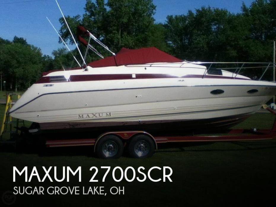 1990 Maxum 2700SCR
