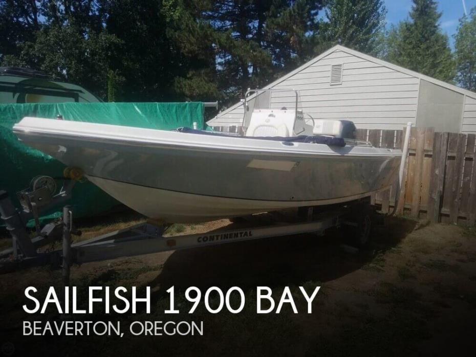 2008 Sailfish 1900 Bay