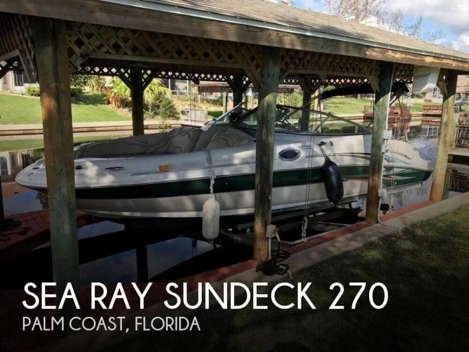 2002 Sea Ray Sundeck 270