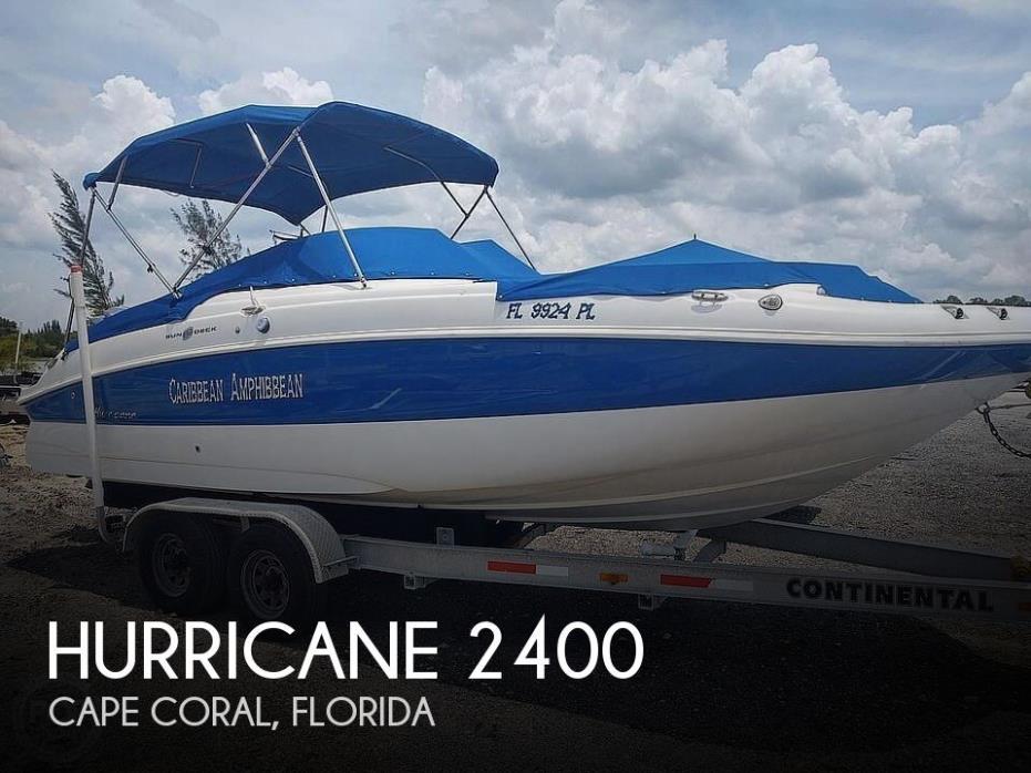 2013 Hurricane Sundeck 2400
