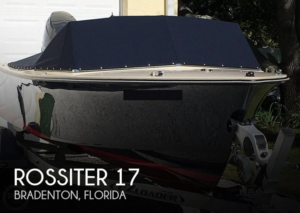 2015 Rossiter 17 CD Runabout