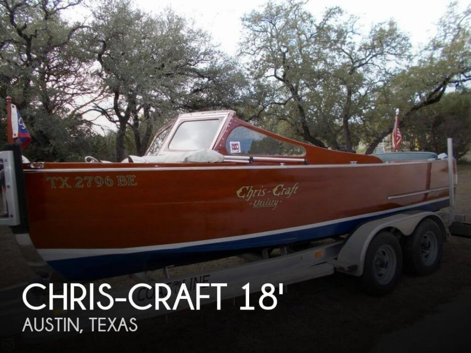 1942 Chris-Craft 18 Deluxe Utility