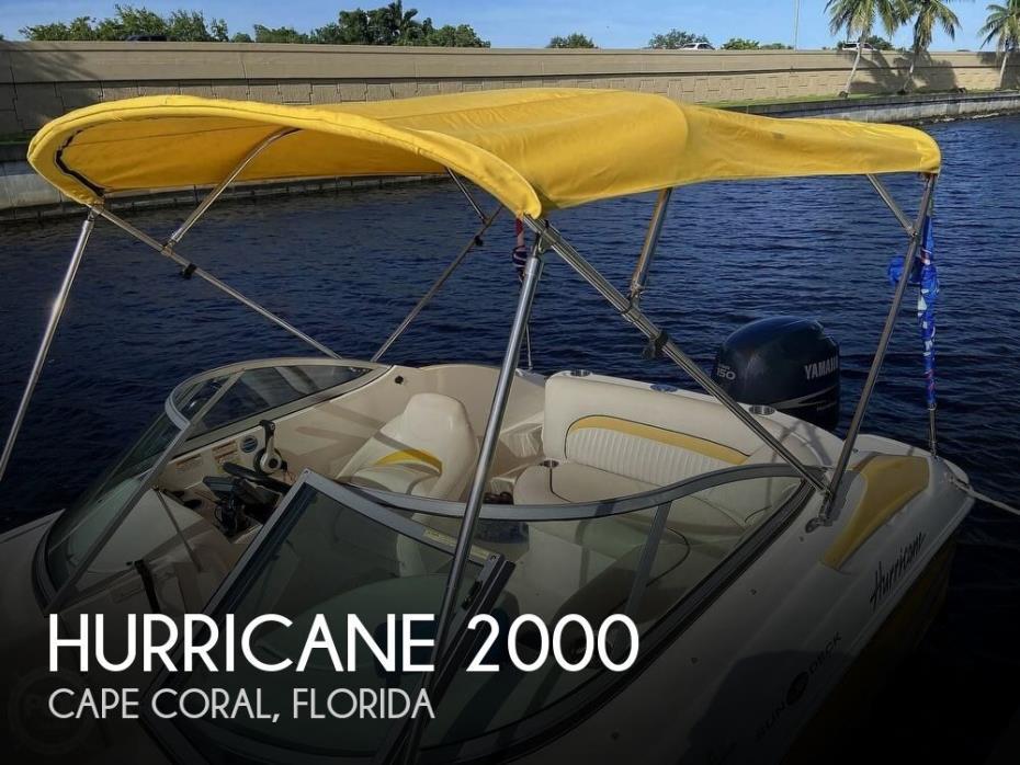 2008 Hurricane SunDeck 2000