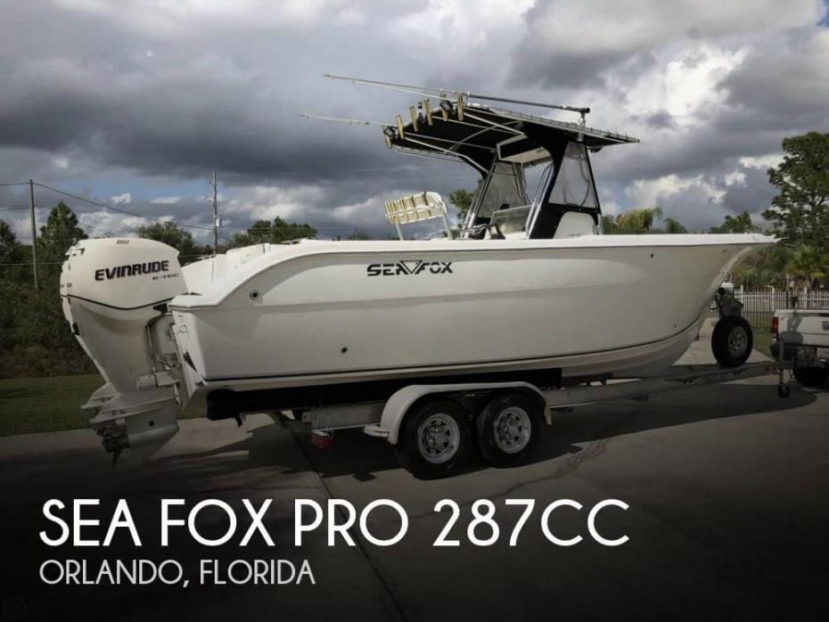 2007 Sea Fox Pro 287CC