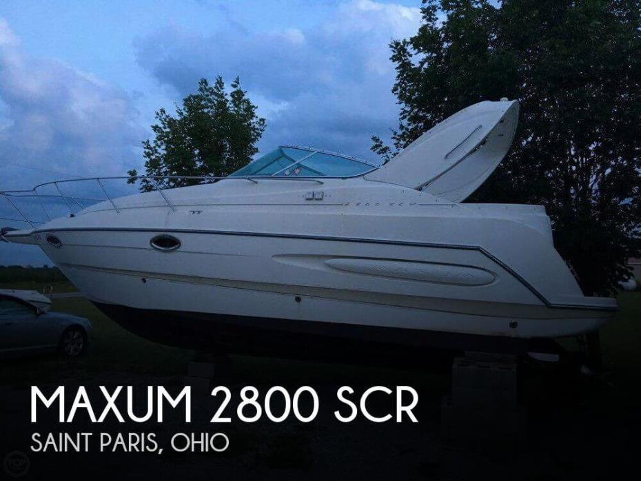 1999 Maxum 2800 SCR
