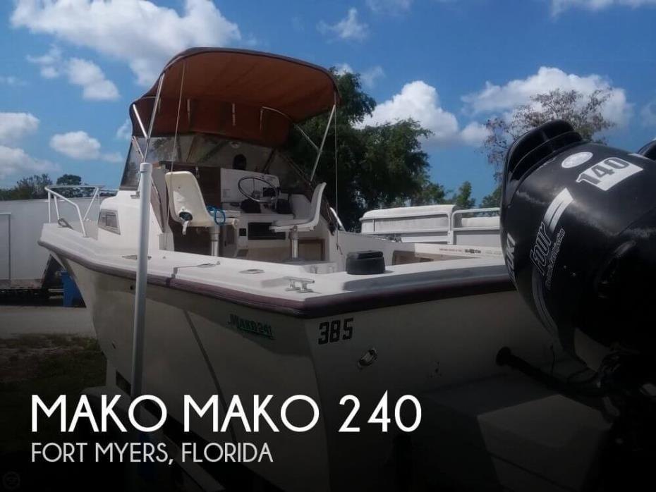 1988 Mako 240 WALKAROUND