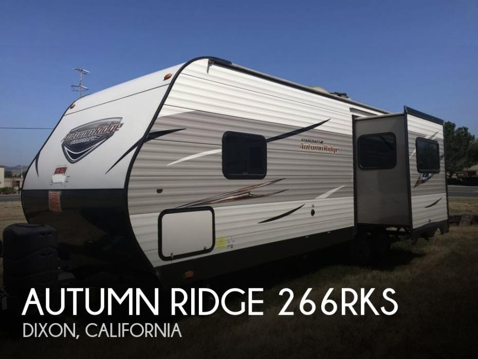 2017 Starcraft Autumn Ridge 266RKS