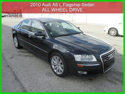 Audi : A8 L 4.2 2010 l 4.2 used awd sedan bose 1 owner clean carfax service up to date loaded