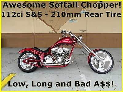 Bourget : Low Blow 2003 bourget low blow softail chopper 112 ci s s priced to sell