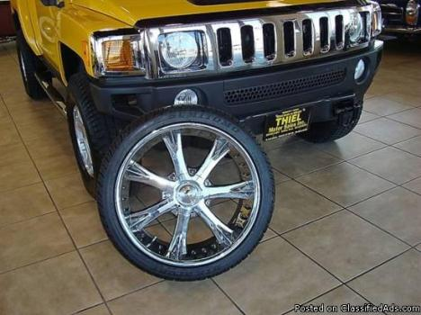 Four 22 inch tires and wheels 4 sale