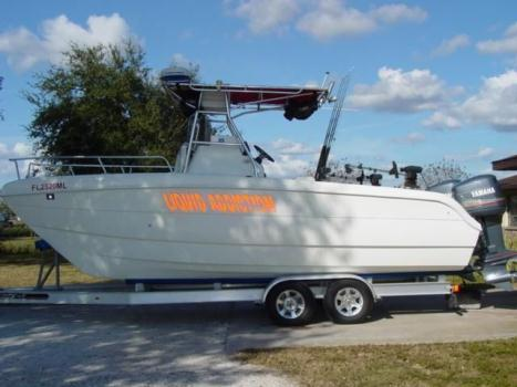 2002 SeaChaser 23ft Catamaran and trailer Kodiak brakes