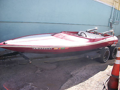berkeley jet boat (455) 77 mantra 18' 4 seater project,cool classic rounded body