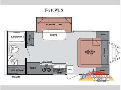 2013 Cruiser Rv Fun Finder F-210WBS