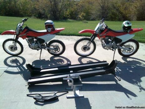 Honda dirt bikes, CRF 230 and CRF 150 for sale