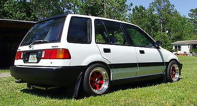 Honda : Civic Wagon 1991 honda civic wagon wagovan b 16 a v tec super clean inside outside