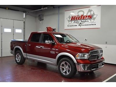 Ram : 1500 Laramie Low Miles One Owner Clean Title Black Leather 4x4 Truck Heated Seats