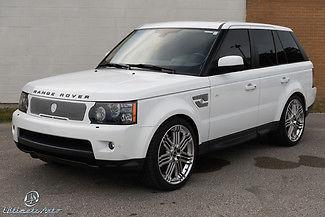 Land Rover : Range Rover HSE 2012 white hse strut package kahn 22 wheels full stereo upgrade