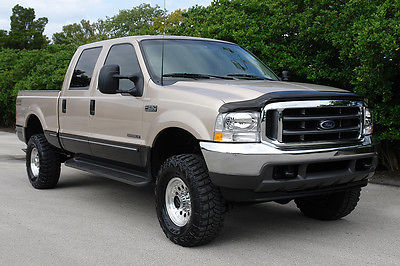 Ford : F-250 Lariat 4X4 7.3 l turbo diesel off road 4 lifted chip exhaust new trany excellent