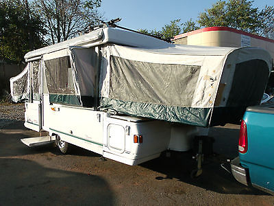 1999 Coleman Bayside Pop Up Travel Trailer, Camper, Slide Out, AC, Heat