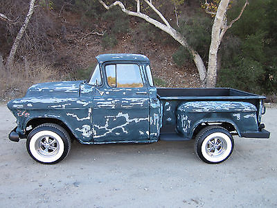Chevrolet : Other Pickups deluxe cab 1956 chevy 3100 short bed big window 350 v 8 700 r 4 disc ps