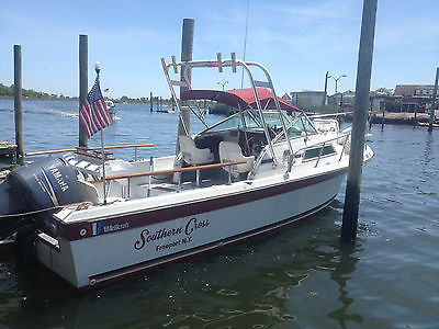 Wellcraft Coastal 250 25' fishing boat with 225 Yamaha 4 stroke with trailer
