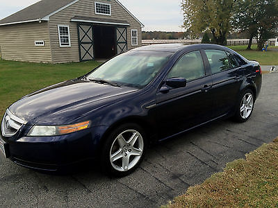 Acura : TL TL 2006 acura tl blue metallic with tan leather navigation system nice car
