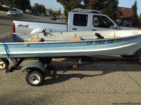 12' Aluminum Boat Motor & Trailer