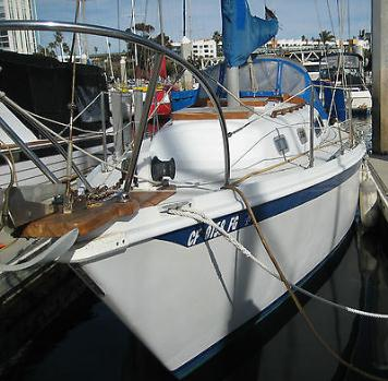 1974 29' Ericson sailboat w/slip - $10000 (Oceanside CA)