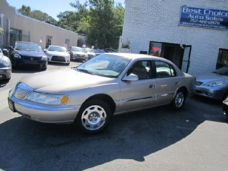 1998 Lincoln Continental - Best Choice Auto Sales, Virginia Beach Virginia