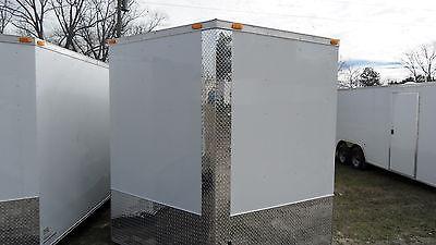 8.5x16 Enclosed Cargo Auto Race Car Hauler 7000lb GVWR V-NOSE WHITE OR BLACK