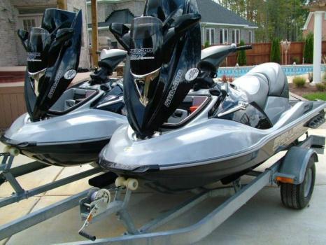 Two 2006 Sea Doo GTX Limited Jet Skis w/ Trailer