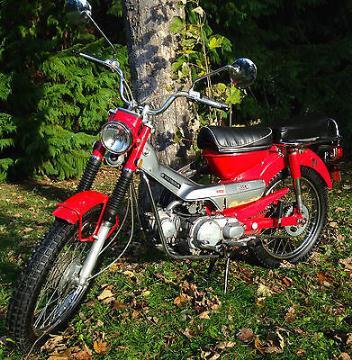 Honda : CT 1969 honda trail ct 90 k 1 red good condition