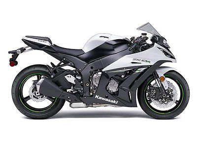 Kawasaki : Ninja NEW 2014 KAWASAKI NINJA ZX10R WHITE KM9473 ULTIMATE SPORT BIKE