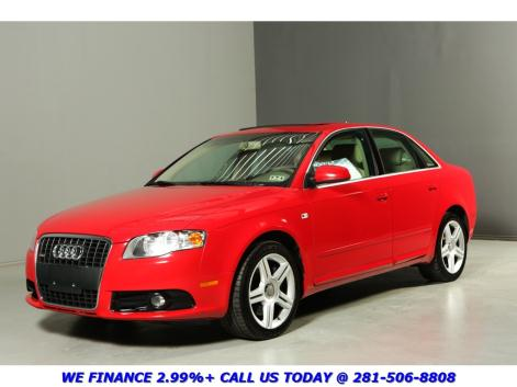 Audi : A4 2.0T QUATTRO S-LINE CLEAN CARFAX SUNROOF LEATHER AWD HEATSEATS BOSE ALLOYS RED ON TAN SPORT !