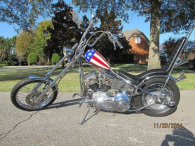 Other Makes : Captain America  2001 panzer captain america motorcycle chopper