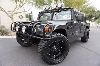 Hummer : H1 H1 Open Top Hummer 99 diesel am general custom stereo 8 hid s leather 3 rd seat 22 wheels 37 tires