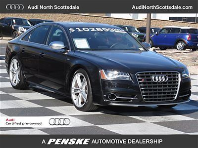 Audi : S8 -One Owner-Drivers Assist-B/O Sound-Certified 2014 audi s 8 6 k miles awd leather sun roof navigation heated seats financing