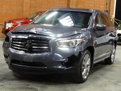 Infiniti : JX AWD 2013 infiniti jx 35 awd damaged rebuilder only 21 k miles loaded w options l k