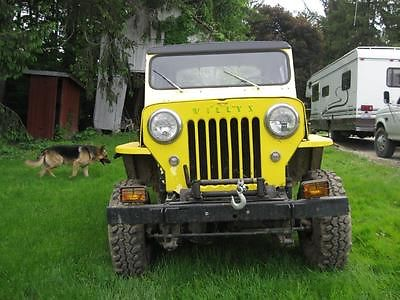 Willys : CJ3B None 1960 willy s jeep cj 3 b new top tires winch snow plow v 8