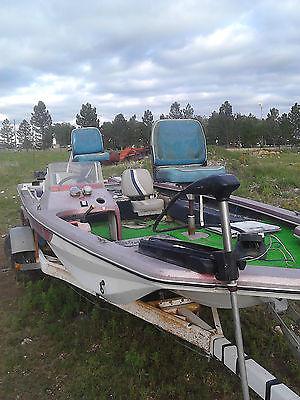 Bass Fishing Boat.65 HP Motor w Trolley