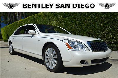 Maybach : 62S 4dr Sdn 2009 maybach 62 s white over white low miles loaded with options partition