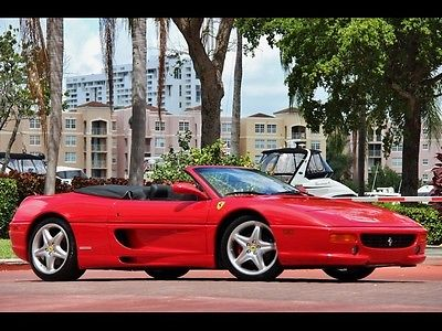 Ferrari : 355 F1 Spider ONLY 9K $799.00 MO RED BELT SERVICE NEW CLUTCH BLACK LEATHER F1 CONVERTIBLE