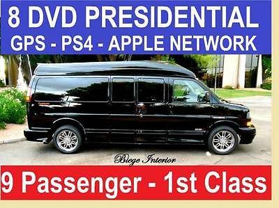 GMC : Savana 9 PASSENGER PRESIDENTIAL Presidential Custom Conversion Van 9 Passenger,8DVD-GPS-RVC ++ Hi Tech Upgrades