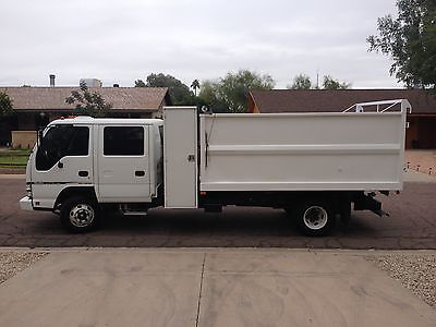 Isuzu : Other Box Dump Body 2007 isuzu npr turbo diesel 4 door crew cab hd w 12 landscape dump bed lo miles