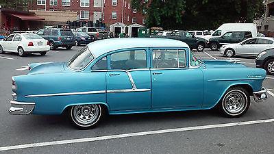 Chevrolet : Bel Air/150/210 210 Sedan 1955 baby blue chevrolet 210 sedan