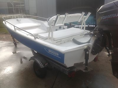11ft Boston Whaler with a 2005 25 hp four stroke