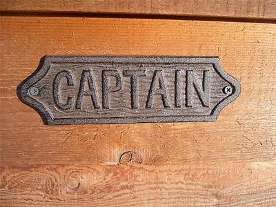 Ship Boat Captain Cast Iron Wall or Door Plaque Nautical Decor